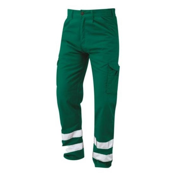 HD Regular Workwear Trousers Green Hi-vis